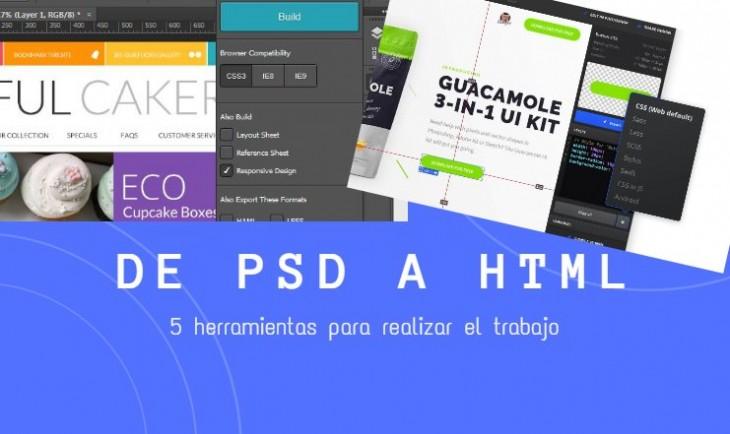 psd a HTML