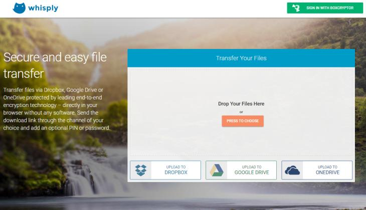 Whisply, para cifrar archivos importantes para su transferencia por Internet