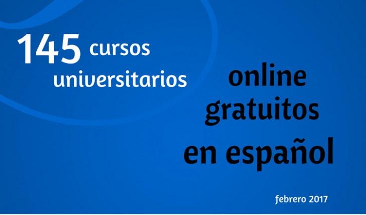 145 cursos en español, universitarios, online y gratuitos, que comienzan en febrero