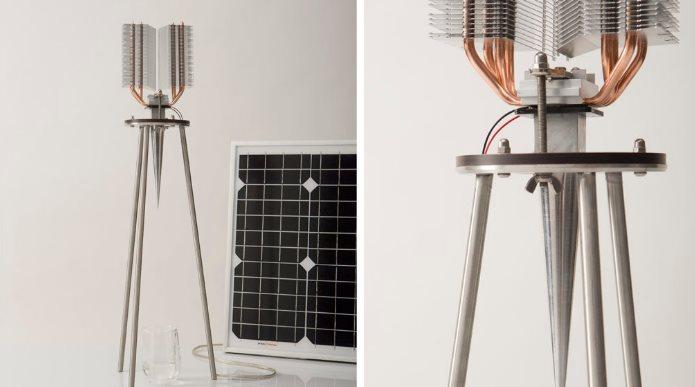 Obteniendo agua del aire con un dispositivo sin batería