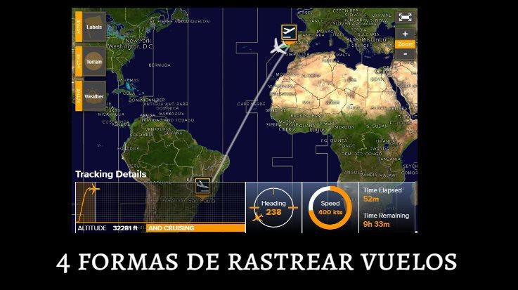 4 formas de rastrear un vuelo en tiempo real