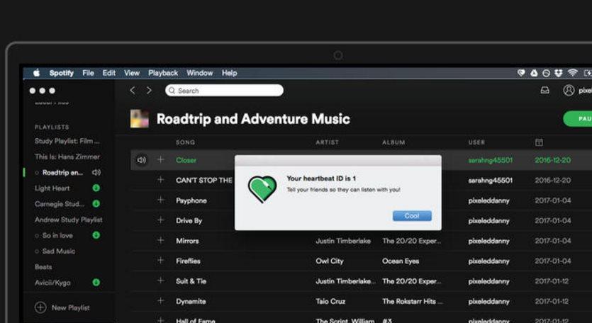 Heartbeat, una aplicación para sincronizar lo que dos escuchan en Spotify