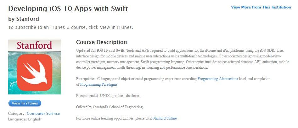 Universidad de Stanford presenta curso gratuito de programación iOS