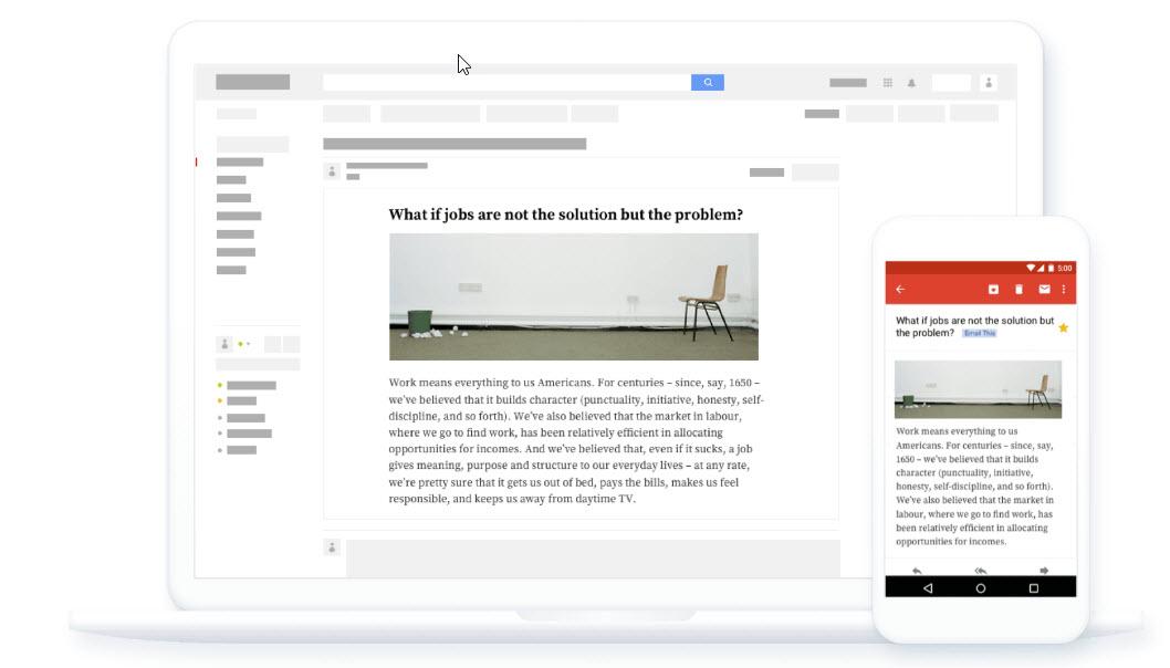Una manera simple de guardar artículos en nuestro correo electrónico para leerlos más tarde