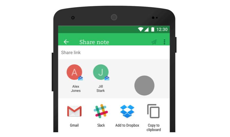Evernote suma nuevas funciones para compartir y gestionar contenido desde Android