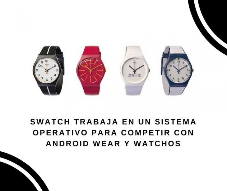 La Para Relojes Marca Operativo Swatch Sistema Trabaja En Un De 3ARjL54