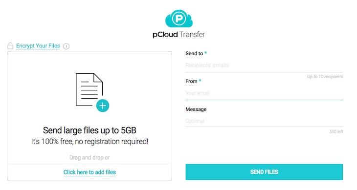 Thumbnail for pCloud Transfer, para enviar archivos de hasta 5GB de forma gratuita y sin registros