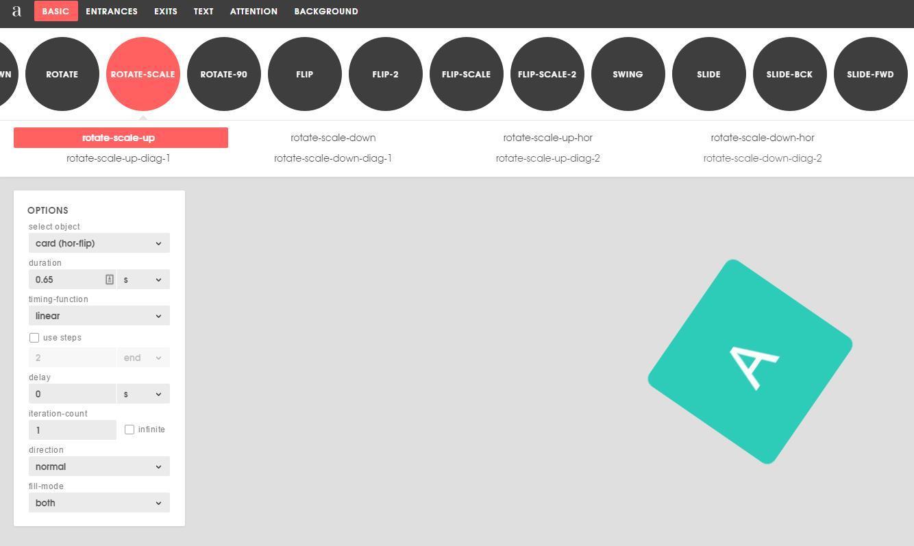 Animista, una colección de animaciones en CSS para usar en nuestros sitios web