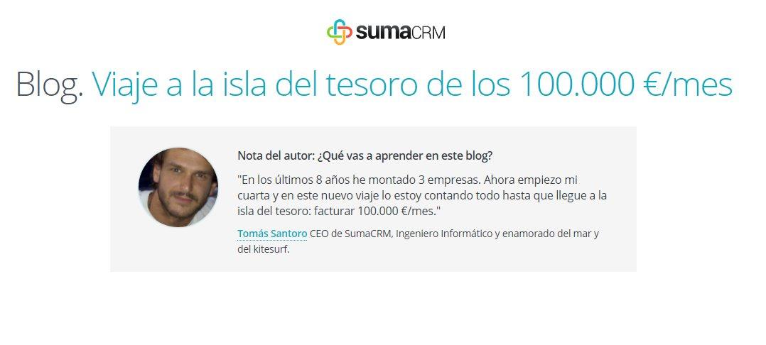 Vuelve el blog de SumaCRM, para ayudarnos a conseguir clientes