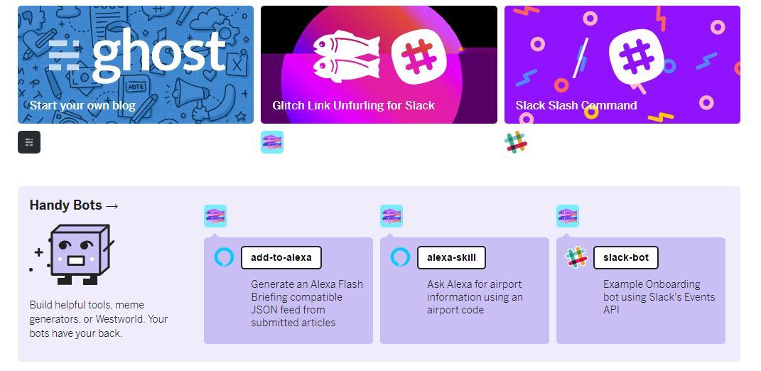 Glitch, una web que nos ayuda a crear aplicaciones y bots