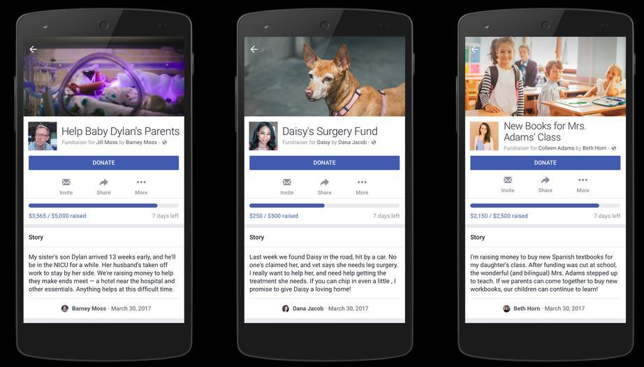 Facebook presenta función para que cualquiera pueda recaudar dinero