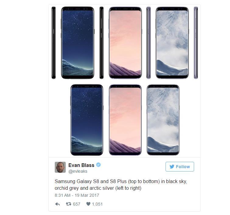 El Samsung Galaxy S8 costará 800 euros en su versión básica, 900 el S8+