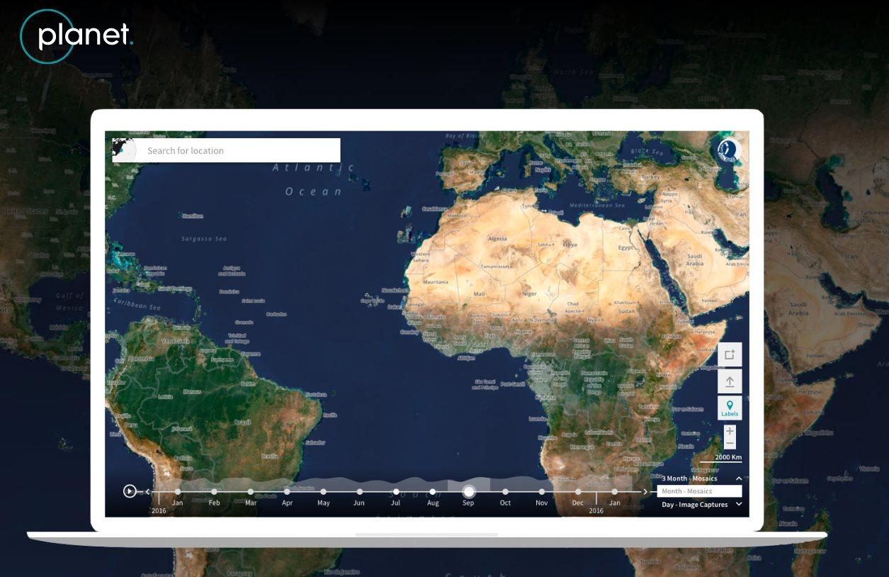 Planet explorer, para ver cómo cambia el planeta a lo largo del tiempo