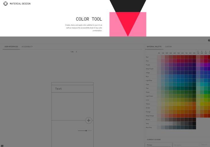 Google lanza nueva herramienta para crear y compartir paletas de colores en Material Design