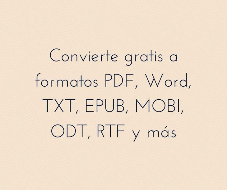 sitios web para convertir archivos a formatos pdf  word