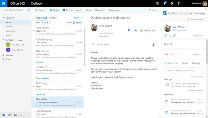 Outlook Customer Manager, el nuevo CRM de Office 365, disponible a nivel global