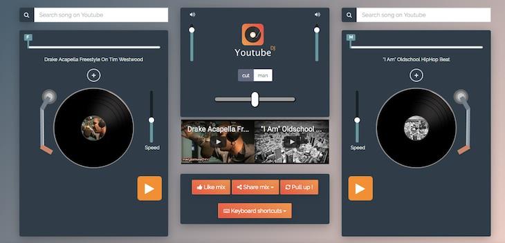 Una herramienta para crear una mesa de mezclas con vídeos de YouTube