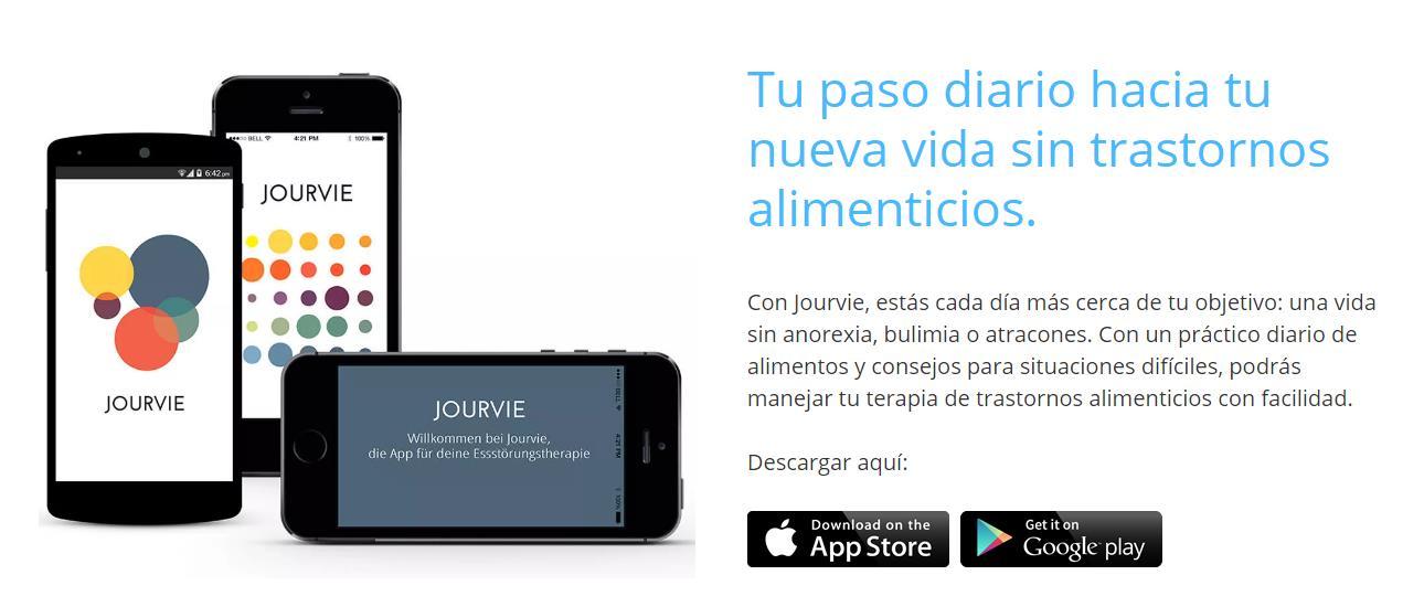 Jourvie, app para evitar trastornos alimenticios, ya en español