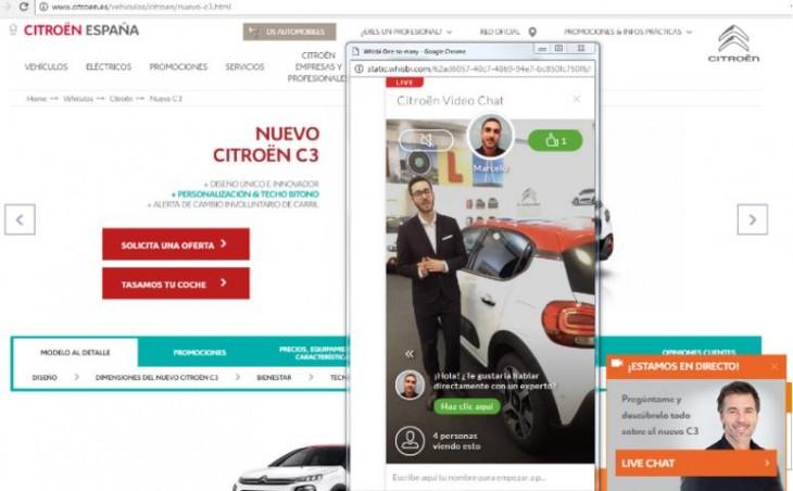 web de Citroën