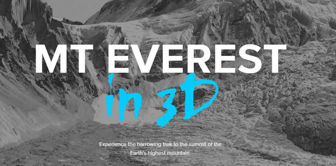 Para saber cómo es subir al Everest. Esta web lo explica en 3D