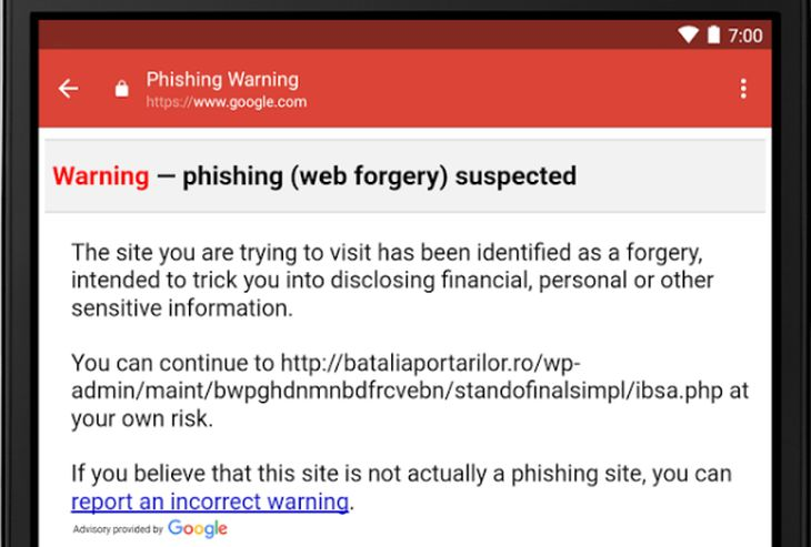 AdvertenciaAnti-Phishing