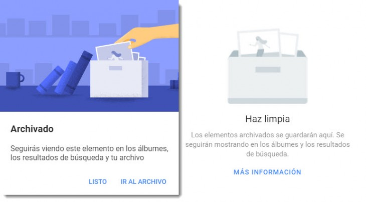 Google Fotos ahora permite archivar fotografí­as y videos