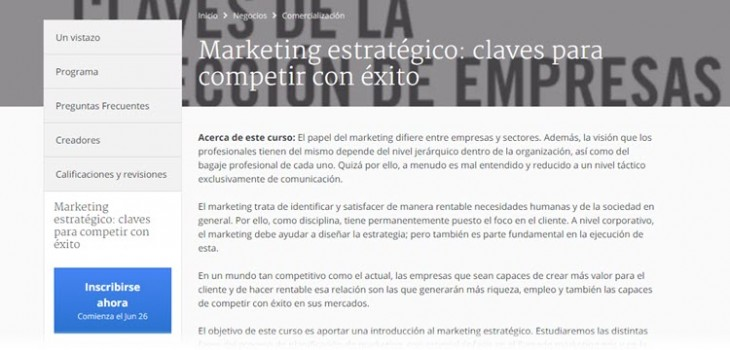 curso marketing estrategico