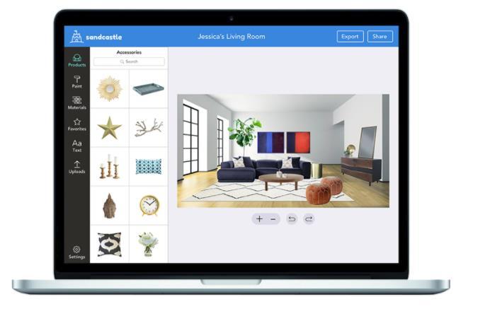 Sandcastle, una nueva herramienta para diseño de interiores