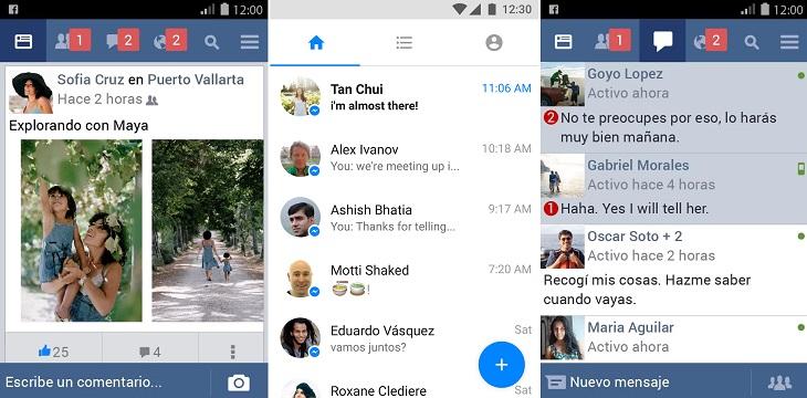 Facebook y Messenger Lite