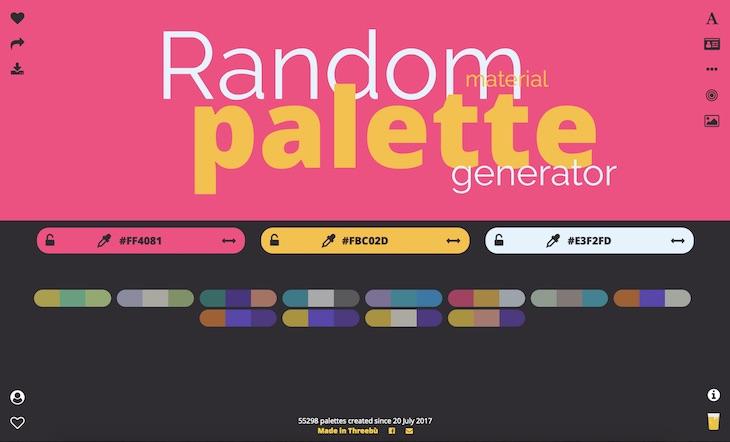 Una web para crear paletas de colores profesionales en cuestión de segundos