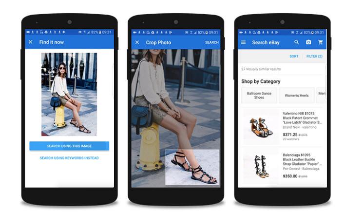eBay permitirá buscar productos utilizando imágenes