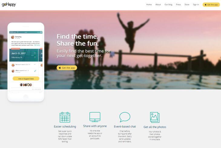 goHappy, interesante app que permitirá fijar fechas de encuentros colaborativamente
