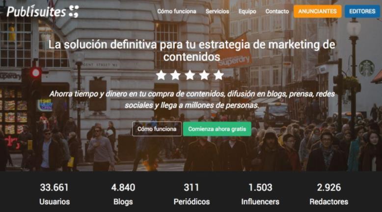 Publisuites, una plataforma que ayuda a dar visibilidad al contenido que publicas en Internet