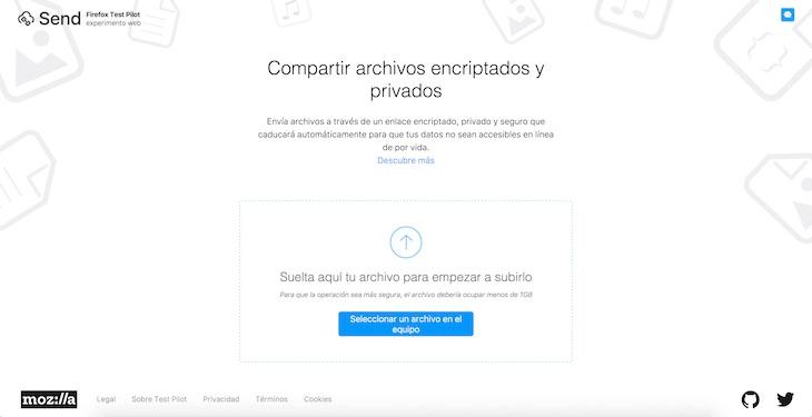 Firefox Send, para compartir archivos cifrados de hasta 1GB que se borran automáticamente