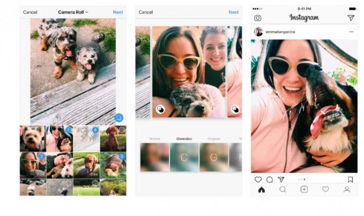 Instagram actualiza las funciones de sus fotos múltiples