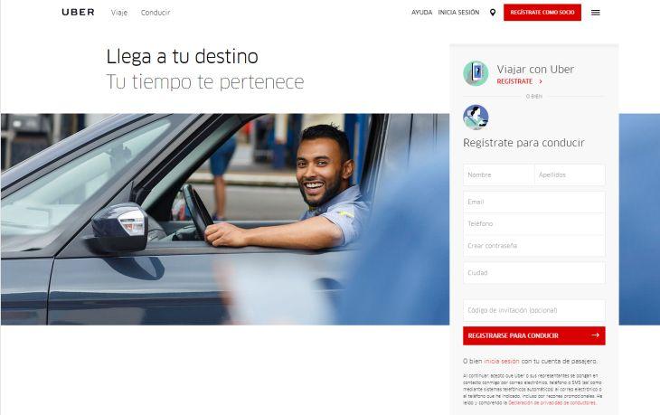 Imagen: Sitio web de Uber