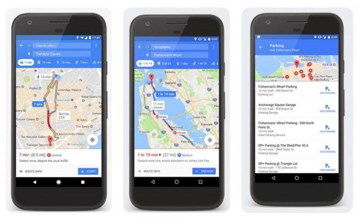Google Maps ya busca aparcamiento en ciudades españolas