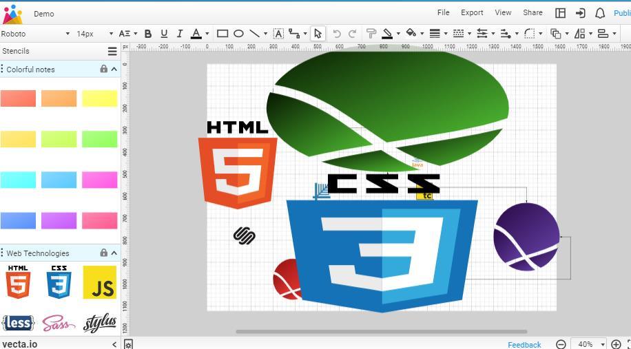 Vecta, una aplicación web para crear diagramas en grupo