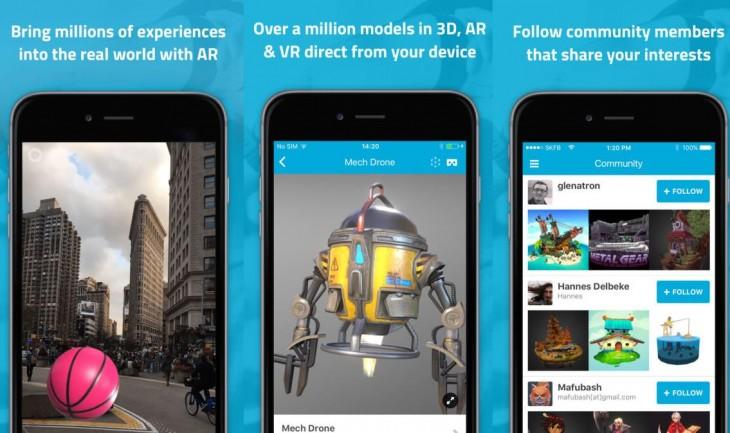 Sketchfab se actualiza para mostrar 2 millones de objetos en Realidad Aumentada