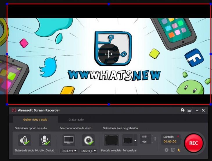 Aiseesoft Screen Recorder, para capturar la pantalla del PC grabando v