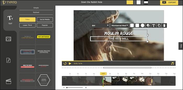 Typito, un recurso web para crear y editar  vídeos en pocos minutos