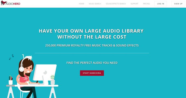 Audio Hero, nueva plataforma con pistas de música y efectos sonoros libre de royalties