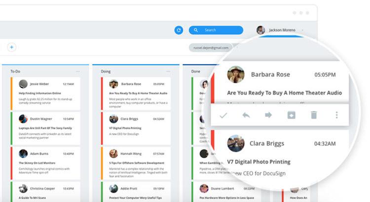 Una aplicación que convierte Gmail y Outlook en un tablero de listas de tareas