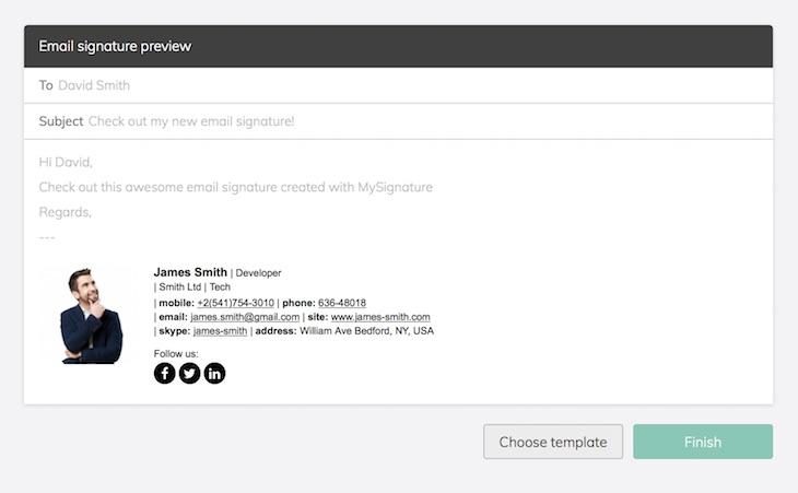 Un generador de firmas de correo electrónico totalmente gratuito