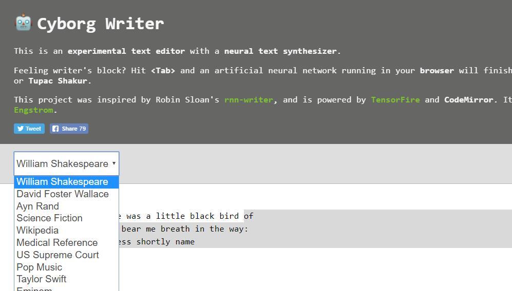 Un editor de texto con inteligencia artificial