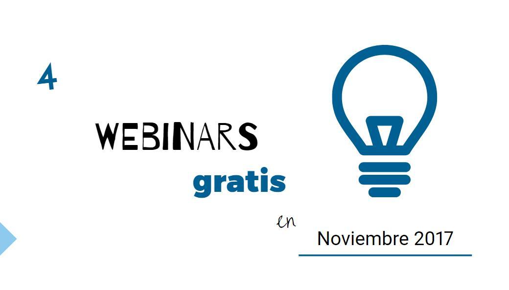 4 webinars gratuitos para el mes de noviembre