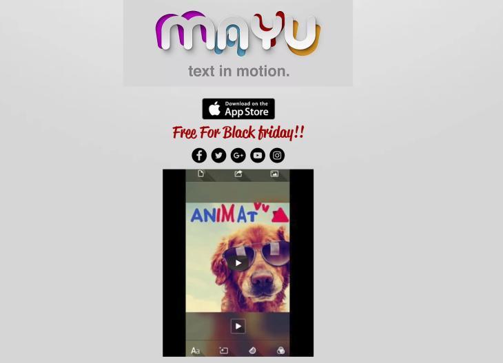Mayu, nueva app de iOS para combinar textos animados con imágenes y ot