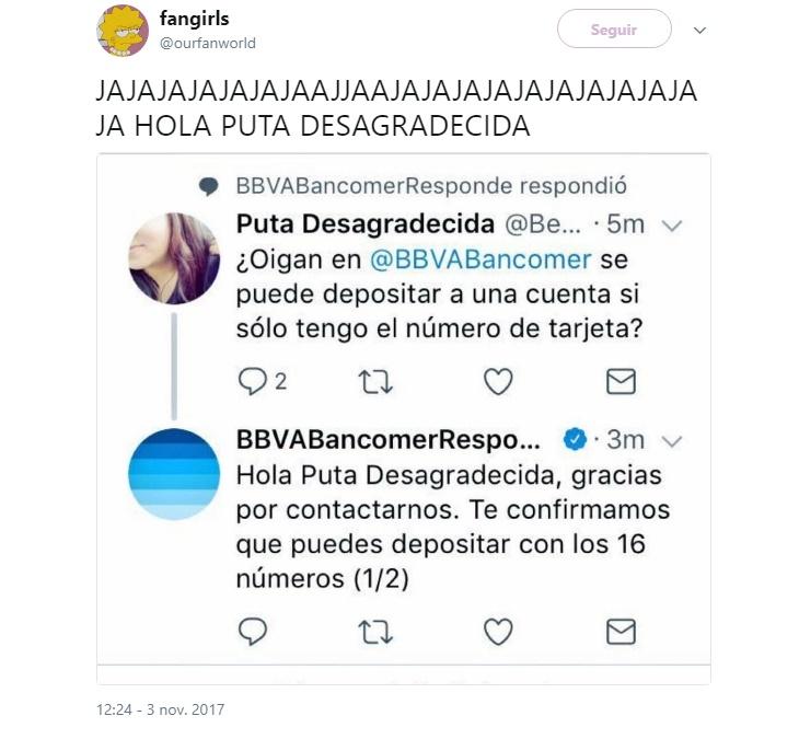 Tweet Banco BBVA
