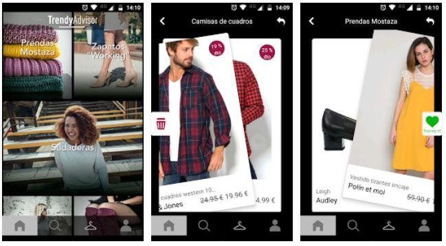 Una app de moda que adivina los gustos del usuario