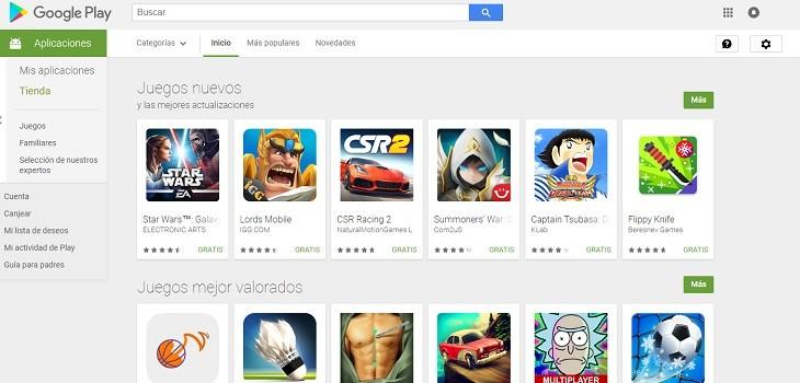 Juegos rentables Google Play